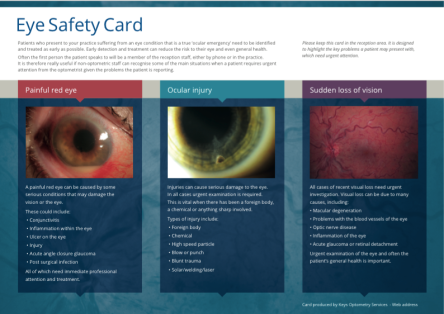 Eye Safety Card